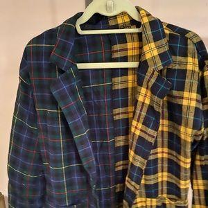 Shein patchwork blazer size xs